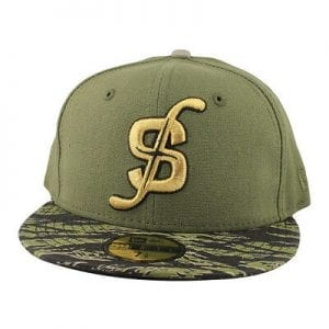 Tigerstripe Camo Jalapeno Canvas 59Fifty Fitted Cap by Strictly Fitteds