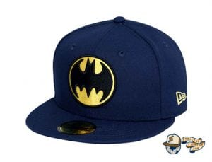 Bat Sign Batman 80th Navy 59Fifty Fitted Cap by DC x New Era Front side