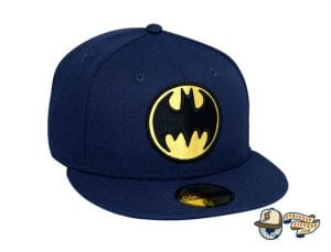 Bat Sign Batman 80th Navy 59Fifty Fitted Cap by DC x New Era Front