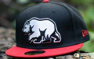 Bear Explorer Black Red 59Fifty Fitted Hat by Noble North x New Era