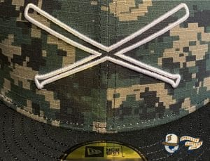Crossedbats Logo Digital Camo 59Fifty Fitted Hat by Just Fitteds x New Era Logo