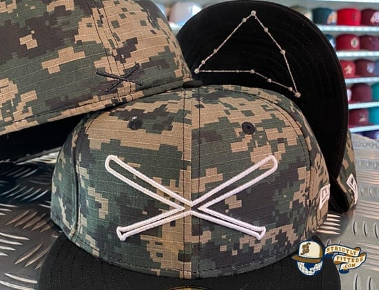 Crossedbats Logo Digital Camo 59Fifty Fitted Hat by Just Fitteds x New Era