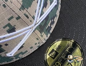 Crossedbats Logo Digital Camo 59Fifty Fitted Hat by Just Fitteds x New Era top