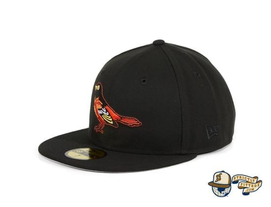 Hat Club Exclusive Baltimore Orioles 1999 Black 59Fifty Fitted Hat by MLB x New Era side Era