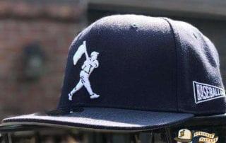 Heritage Dark Navy Fitted Cap by Baseballism Side