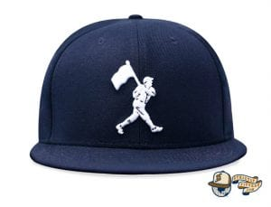 Heritage Dark Navy Fitted Cap by Baseballism Front