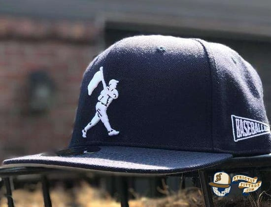 Heritage Dark Navy Fitted Cap by Baseballism Side