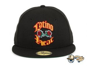 Latino Heat Black 59Fifty Fitted Cap by WWE x New Era Front