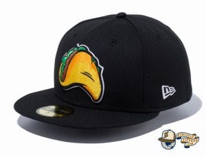 Minor League Fresno Grizzlies Black 59Fifty Fitted Hat by New Era side