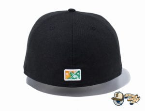 Minor League Fresno Grizzlies Black 59Fifty Fitted Hat by New Era Back