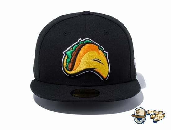 Minor League Fresno Grizzlies Black 59Fifty Fitted Hat by New Era Front