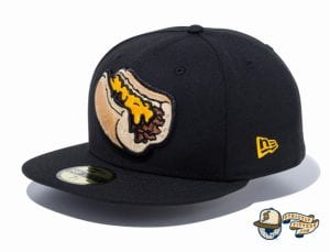 Minor League Lehigh Valley IronPigs Black 59Fifty Fitted Hat by New Era Side