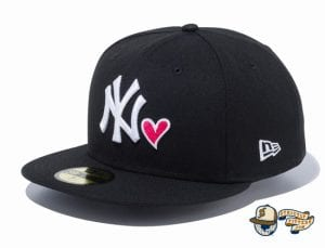 New York Yankees Heart 59Fifty Fitted Hat by MLB x New Era side