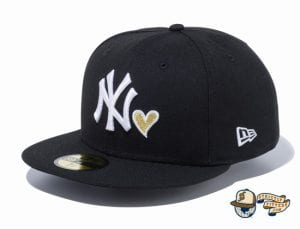 New York Yankees Heart 59Fifty Fitted Hat by MLB x New Era black