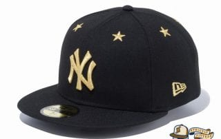 New York Yankees Star Eyelets 59Fifty Fitted Hat by MLB x New Era Gold