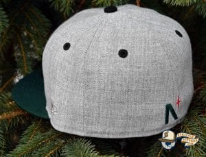 Noble Pines Grey Heather Dark Green 59Fifty Fitted Cap by Noble North x New Era Back