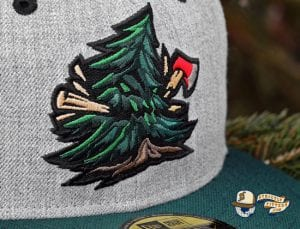 Noble Pines Grey Heather Dark Green 59Fifty Fitted Cap by Noble North x New Era