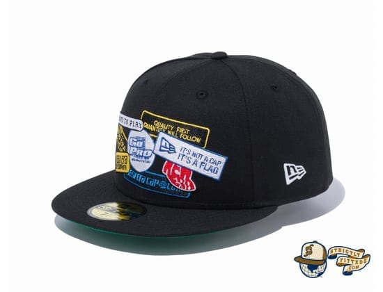 Old Logo Patch 59Fifty Fitted Cap by New Era flag Side