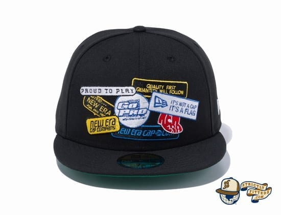 Old Logo Patch 59Fifty Fitted Cap by New Era Front Black