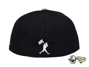Paint The Black Fitted Hat by Baseballism Back