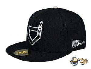 Paint The Black Fitted Hat by Baseballism side