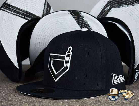 Paint The Black Fitted Hat by Baseballism