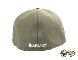 SJ Monogram 59Fifty Fitted Cap by Headliners x New Era Back Olive