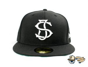 SJ Monogram 59Fifty Fitted Cap by Headliners x New Era Front Black