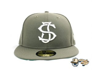 SJ Monogram 59Fifty Fitted Cap by Headliners x New Era Front Olive