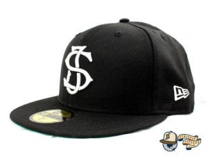 SJ Monogram 59Fifty Fitted Cap by Headliners x New Era side Black
