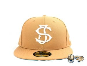 SJ Monogram 59Fifty Fitted Cap by Headliners x New Era Front Tan