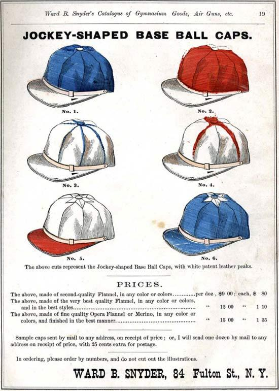 Anyders Jockey Baseball Caps 1875