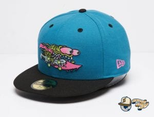 Santa Cruz Slasher Black Teal 59Fifty Fitted Cap by Sta Cruz x New Era front