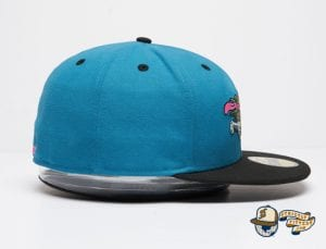 Santa Cruz Slasher Black Teal 59Fifty Fitted Cap by Sta Cruz x New Era Side