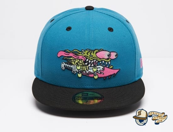 Santa Cruz Slasher Black Teal 59Fifty Fitted Cap by Sta Cruz x New Era
