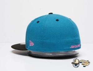 Santa Cruz Slasher Black Teal 59Fifty Fitted Cap by Sta Cruz x New Era Left Side