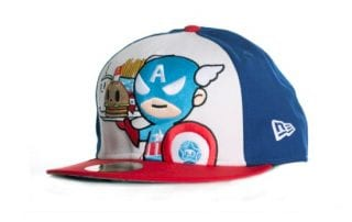Toki Doki x Captain America New Era x Marvel 59fifty Fitted Hat