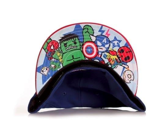 Toki Doki x Captain America New Era x Marvel 59fifty Fitted Hat undervisor