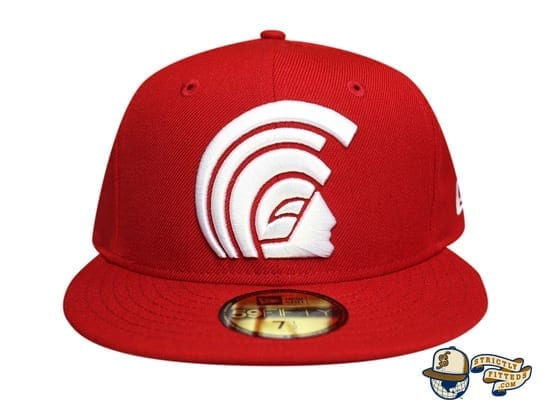 Daily Program Mua Red White 59Fifty Fitted Cap by Fitted Hawaii x New Era