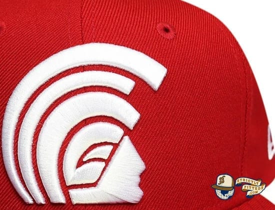Daily Program Mua Red White 59Fifty Fitted Cap by Fitted Hawaii x New Era details