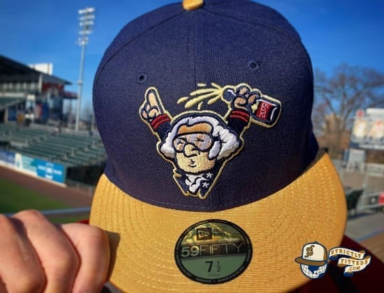 George Washington Celebrates A World Series 59Fifty Fitted Cap by Harrisburg Senators x MILB x New Era front