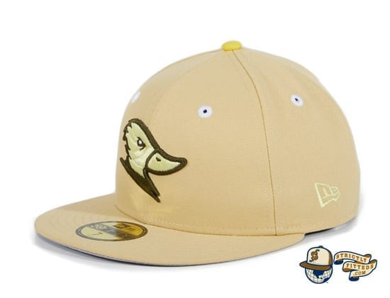Hat Club Exclusive McLaren Ducks Tan 59Fifty Fitted Hat by Thrill SF x New Era flag side