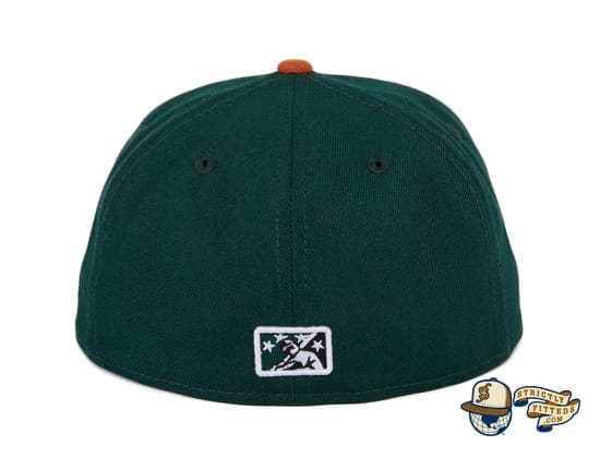 Hat Club Exclusive Missoula Paddleheads Green Burnt Orange 59Fifty Fitted Hat by MiLB x New Era back