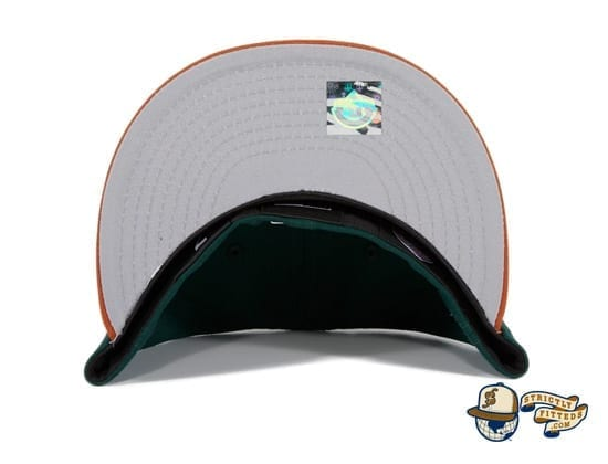 Hat Club Exclusive Missoula Paddleheads Green Burnt Orange 59Fifty Fitted Hat by MiLB x New Era under bill