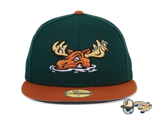 Hat Club Exclusive Missoula Paddleheads Green Burnt Orange 59Fifty Fitted Hat by MiLB x New Era