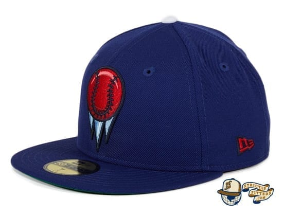 Ice Ballers Royal 59Fifty Fitted Hat by Dionic x New Era flag side
