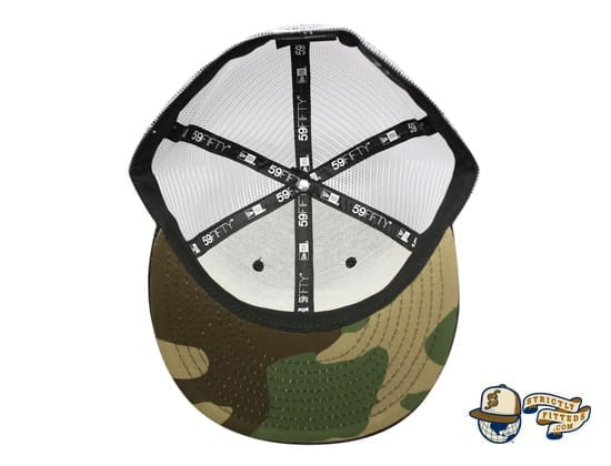 Mua Black White Trucker Woodland Camo 59Fifty Fitted Cap Fitted Hawaii New Era under