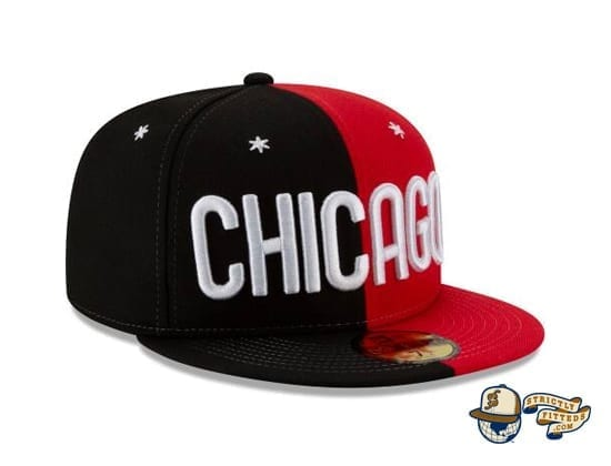 NBA All Star Game Chicago Split 59Fifty Fitted Cap by NBA x New Era side