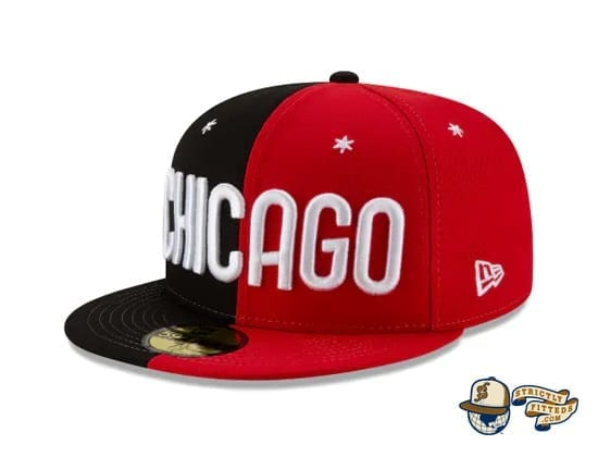 NBA All Star Game Chicago Split 59Fifty Fitted Cap by NBA x New Era flag side