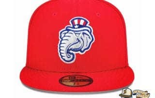 New Hampshire Primaries 59Fifty Fitted Hat by MiLB x New Era red
